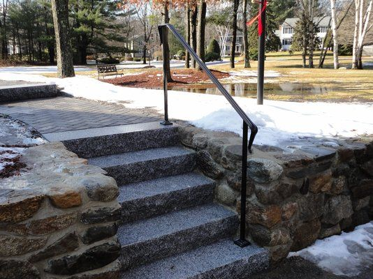 Hand Crafted Andover & Tewksbury Ma. residential railings by Custom Iron Craft Inc | CustomMade.com