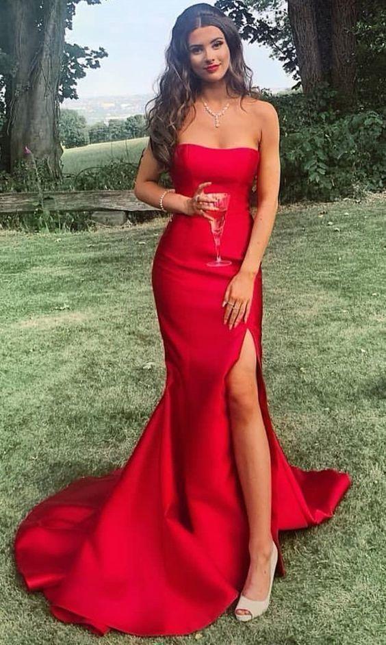 Long prom dresses strapless