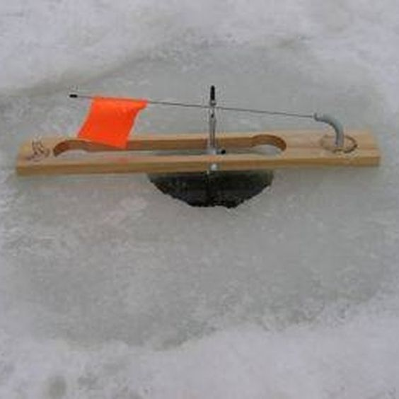 how to build an ice fishing tip up homemade ice fishing