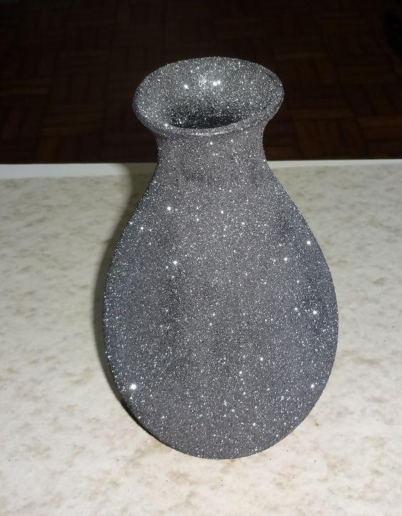 Artesanato Vaso De Cerâmica   Edna Croys Artesanato