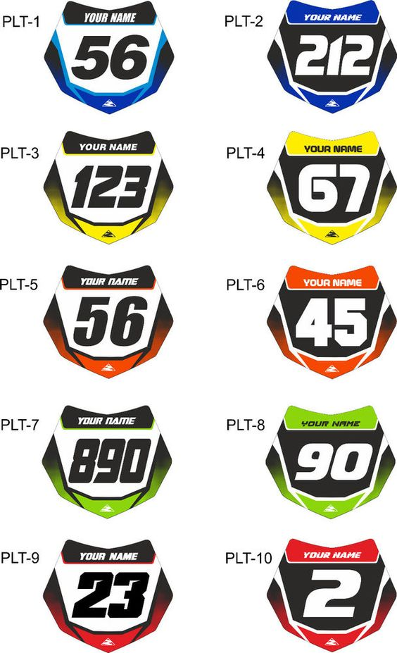 x10,bmx stickers,bmx number plate.race bike.Cycling,custom ,fox ... : Custom Stickers For Bmx Bikes For Kids