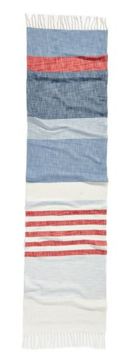 Chambray Stripe Scarf by Steve Madden