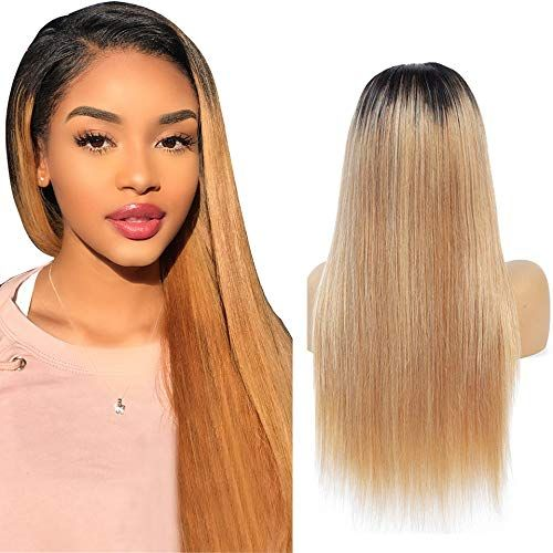 Niudinng Perruque 4x4 Lace Wig 4x4 Closure Wig Perruque Bresilienne Cheveux Blonde Ombre Coule Perruques Cheveux Naturels Cheveux Naturels Perruque Bresilienne