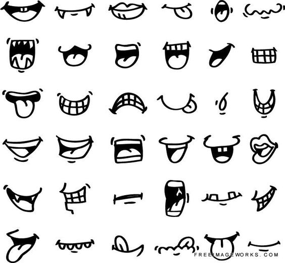 mouth icon adorable, angry, caricature, cartoon, character, clip ...