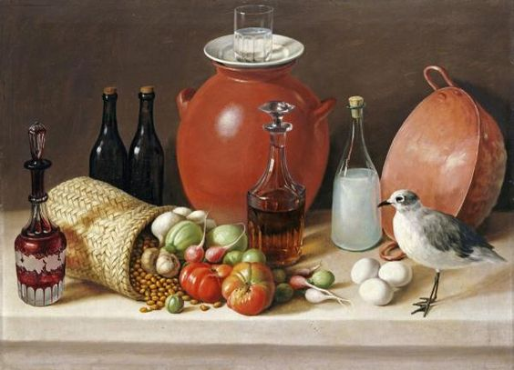 Jose Agustin Arrieta - Still Life With a Bird and a Pitcher - art prints and posters