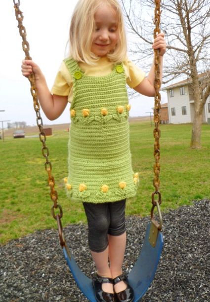 Tulips Aplenty Jumper by Julia Schwartz. FP 2/15: