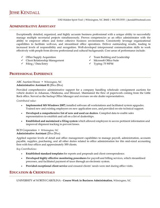 Administrative assistant resume sample is useful for you who are - car sales representative sample resume
