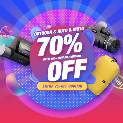 Extra 7% Off Coupon For Outdoor & Auto & Moto  Promo Code