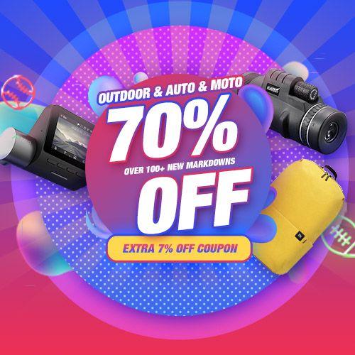 Extra 7% Off Coupon For Outdoor & Auto & Moto  Promo Code : 7outdoor