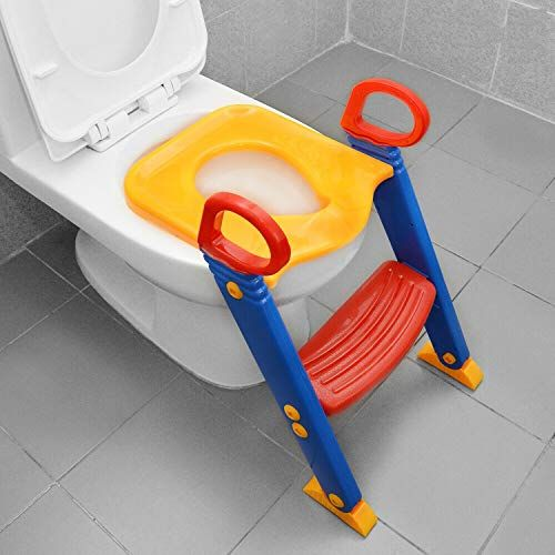 Abhsant Baby Toilet Training Ladder Seat Children Toilet Potty Seat Cover Kids Toilet Baby Toilet Training Baby Toilet Kids Toilet