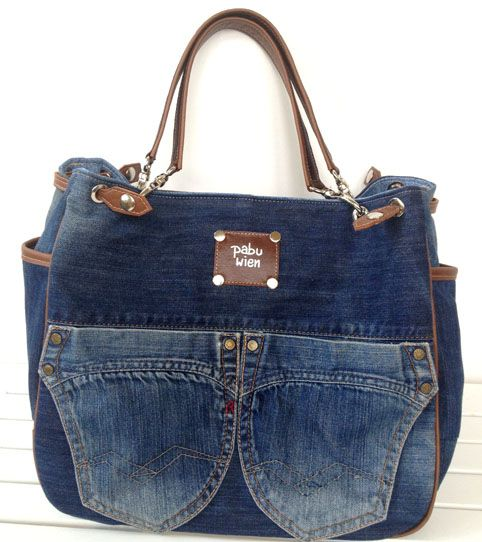 jeans taschen n hen aus jeans pinterest jean bag. Black Bedroom Furniture Sets. Home Design Ideas