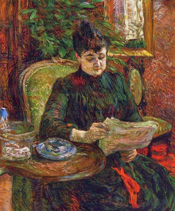 Henri de Toulouse-Lautrec - Madame Aline Gibert (1887)