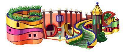 Friedensreich Hundertwasser – Google Doodle zum 83. Geburtstag von ...