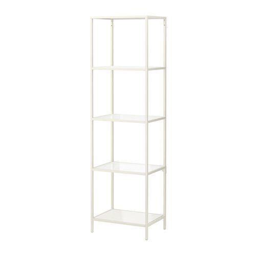 Glass Kitchen Shelf: VITTSJÖ Shelf Unit, White, Glass