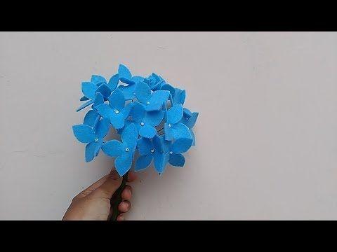 Diy How To Make Felt Flowers Hydragea Cara Membuat Bunga Flanel Hydragea Youtube Felt Flowers Felt Flower Tutorial Felt Flowers Diy