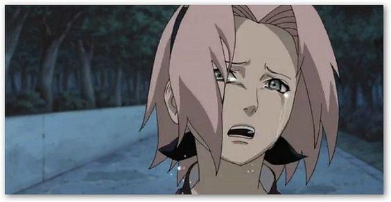 Sakura cry for Sasuke