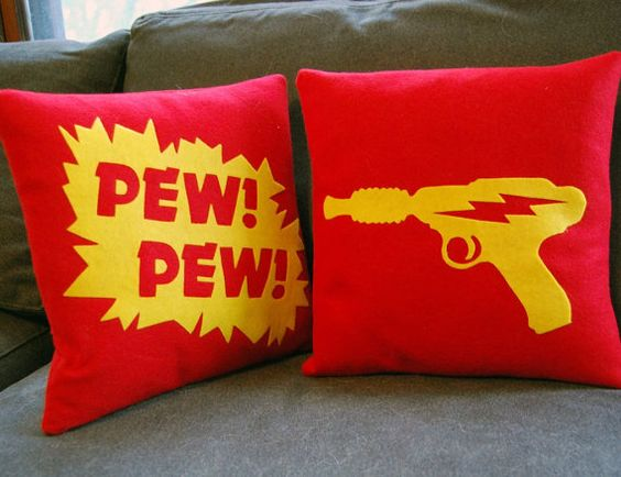 Marooned on Mongo Flash Gordon inspired by diffractionfiber, $40.00.    I need them! maybe a solid Blue glider backing with these superhero pillows!!