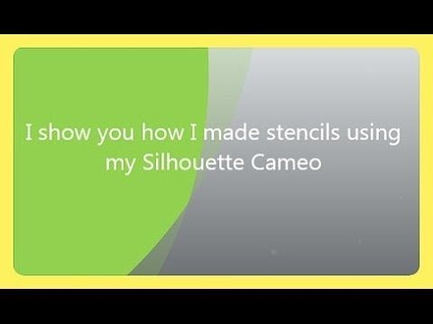 Making Stencils With Silhouette Cameo Using Plastic Dividers From - Office depot window decals template