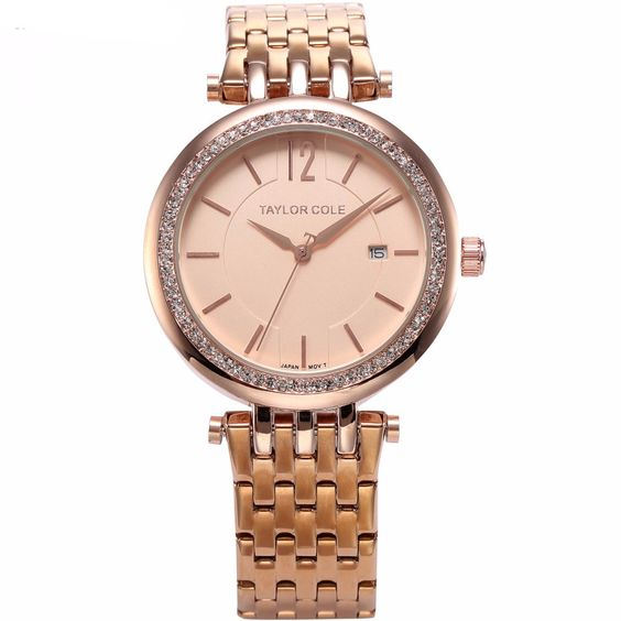 TAYLOR COLE Crystal Calendar Rose Gold TC017