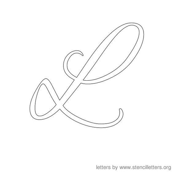 Cursive Letter Stencils L | Letters | Pinterest | Stencils ...