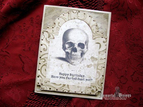 Gothic birthday card fart dust cards halloween bones gothic birthday card fart dust bookmarktalkfo Gallery
