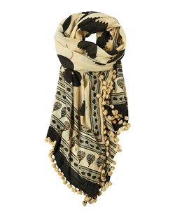 COTTON KHADI BLOCK PRINT SCARF by TOAST