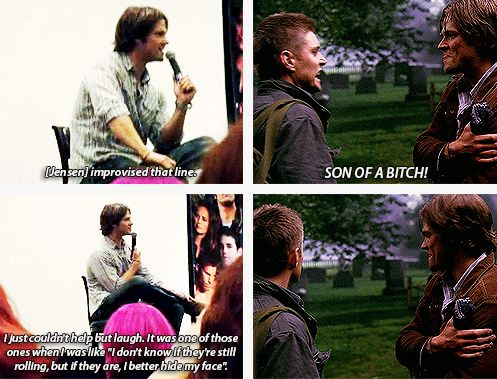 [SET OF GIFS] Jared talks about 3x03 Bad Day at Black Rock at convention panel