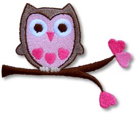 embroidery designed owl