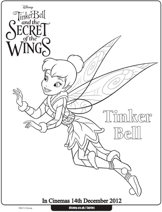 tinkerbell the movie coloring pages - photo#13