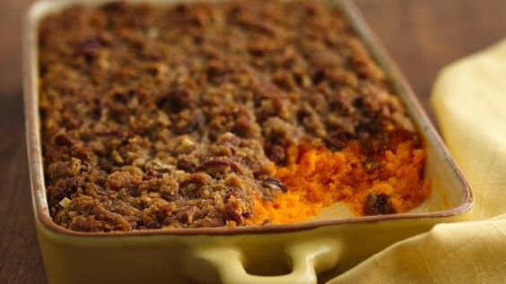 carrot souffle with pecan topping...mmm...