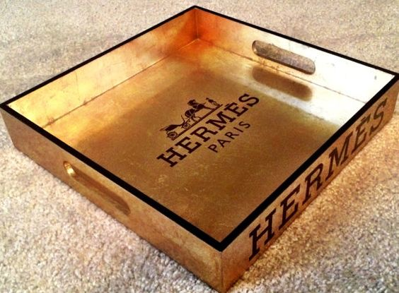 birkin crocodile bag - HERMES, Lacquer Gold Leaf Serving Tray, Replica Equestrian Hermes ...
