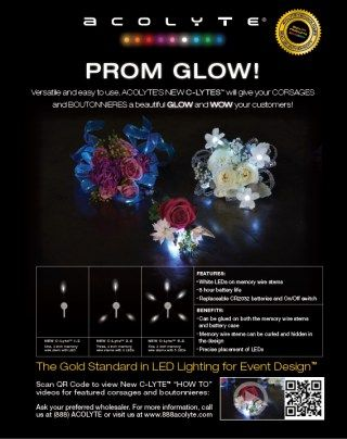 Acolyte® Lights available at Northwest Wholesale Florists for the 2016 Prom season!