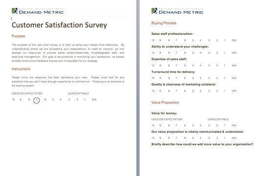 Customer Satisfaction Survey - A survey template to help you - sample customer satisfaction survey