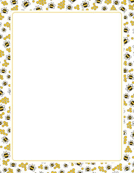 A page border with bees and honeycombs Free downloads at http – Microsoft Word Page Border Templates