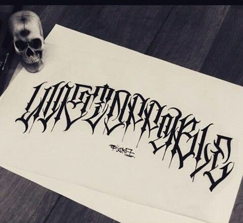 HD wallpapers gangster cursive writing