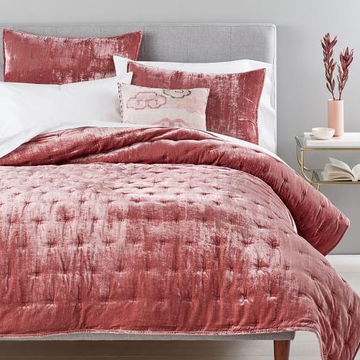 Crinkle Velvet Duvet Cover Shams Velvet Bed Velvet Duvet Home Bedroom