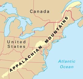 Adventure Appalachian Mountains - Us map appalachian mountains