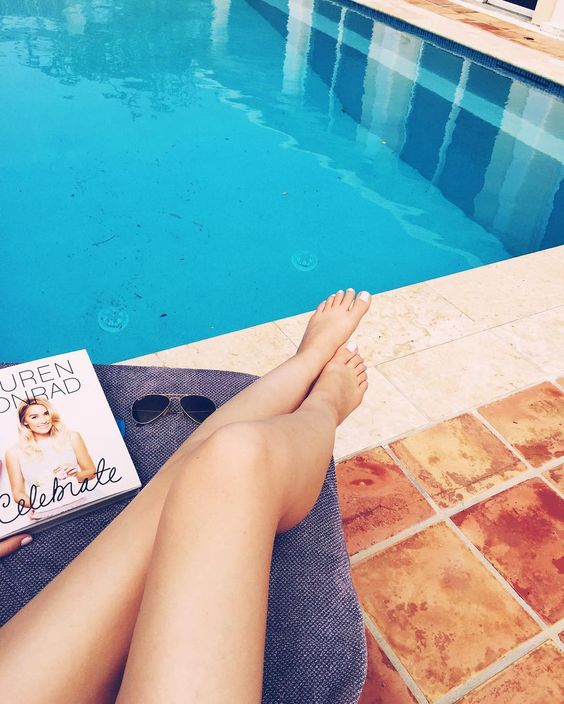 Current situation - lounging and reading Lauren Conrad's #Celebrate Happy Bermuda Day!   by kayleighscott