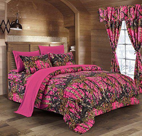 Regal Comfort The Woods High Viz Pink Camouflage Queen 8pc Premium