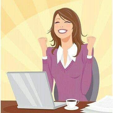 Contadora Feliz Ilustraciones Mujer Imagenes De Dibujos Imajenes Para Perfil