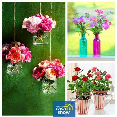 Flores sempre enchem nossa casa de alegria. São bem vindas em qualquer ambiente e transformam a decoração com um ar delicado e uma pitada de romantismo. Separamos lindas inspirações pra você deixar a sua casa florida e colorida!
