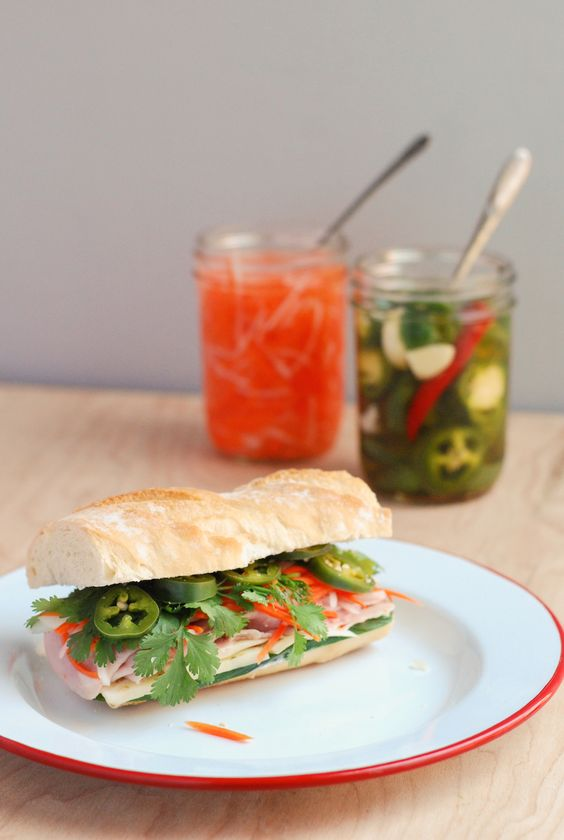 Ham and Swiss Bahn Mi // Brooklyn Supper for Grate.Pair.Share. @wisconsincheese #sponsored