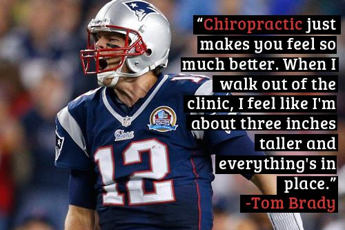 Tom Brady on Chiropractic Care www.spinalchap.com