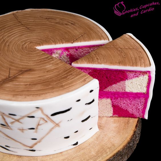 Pink Camouflage cake