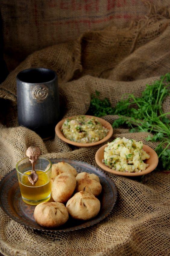 LITTI – CHOKHA (Chick pea Flour stuffed Balls w/ Potato & Eggplant Mash)