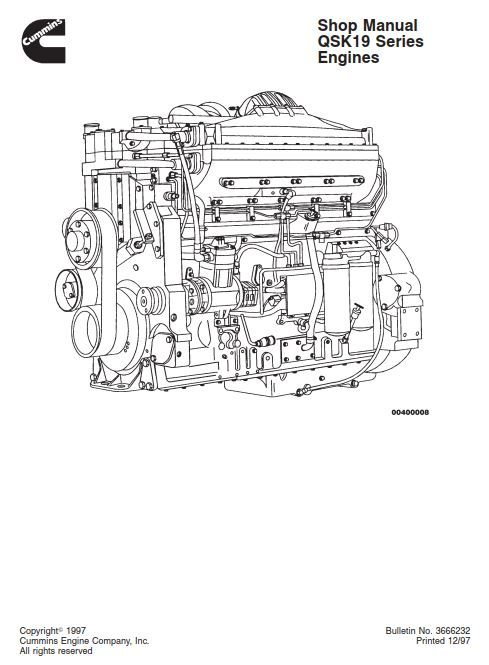 New Post Cummins Qsk19 Series Diesel Engine Service Repair Manual Has Been Published On Procarmanuals Com Cummins Engi Cummins Repair Manuals Diesel Engine