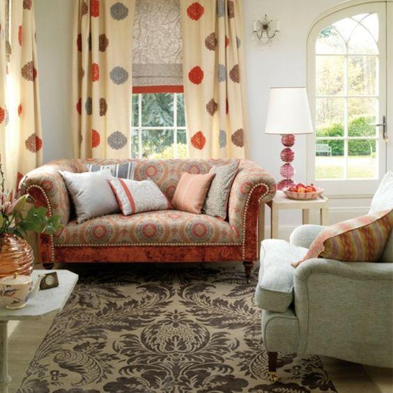 dekovorschlage wohnzimmer essbereich graue möbel rote akzente beide bereiche