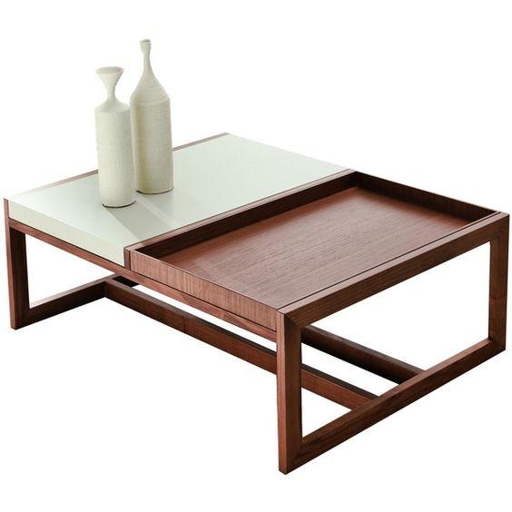 Pacini e Cappellini Mosaico Coffee Table - Large - Walnut ($1,130 ...
