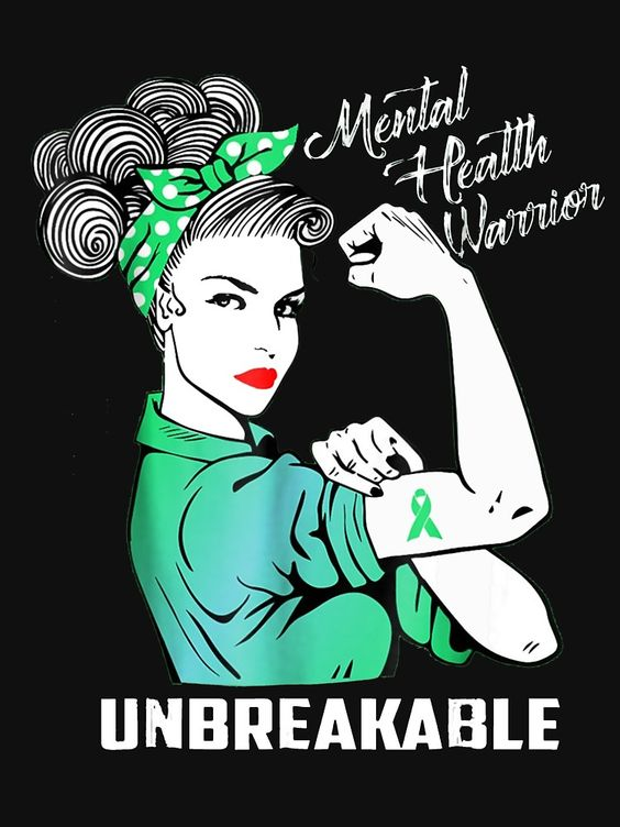 Mental health warrior unbreakable by amberjoseph