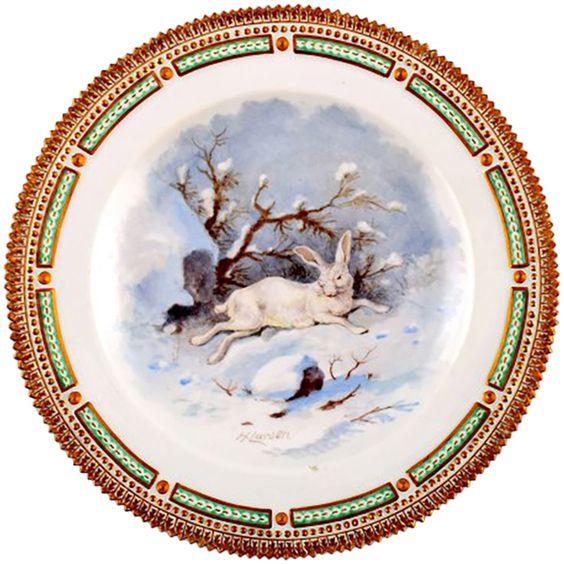 Royal Copenhagen Flora or Fauna Danica Dinner Plate | 1stdibs.com